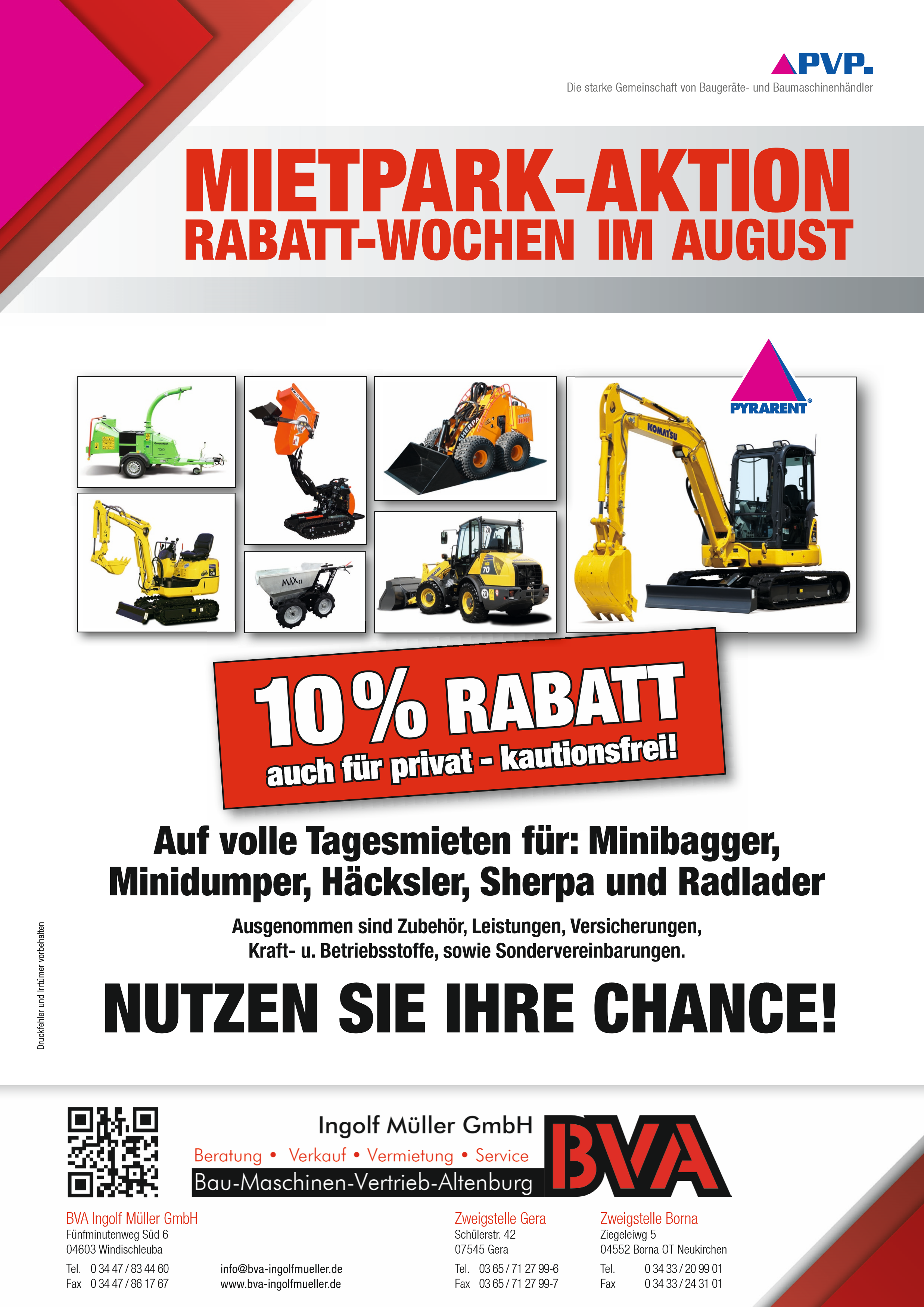 BVA Mietpark Aktion im August 2017